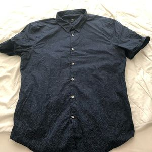 John Varvatos Shirts - John Varvatos [Luxe] Short Sleeve Button Up